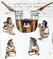 Pic 5: Aztec funeral rites; Codex Magliabecchiano, p. 67 (detail)