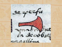 Pic 16: Copper axe, Codex Mendoza folio 68r (detail)