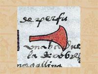 Pic 16: Copper axe, Codex Mendoza folio 68r (detail)