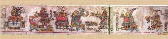 Pic 2: Group of 6 Mixtec musicians, Codex Becker I, folios 8-9 (detail)
