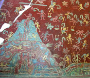 Pic 6: In the mural of Tepantitla at Teotihuacán the cave appears to represent the uterus of the goddess of fertility and the earth - place of germination, but also of return to the earth womb