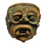 Clay figure of Tlaloc (rain god), from the collections of the Royal Albert Memorial Museum and Art Gallery, Exeter