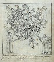 Pic 3: Destruction of native religious images (Diego Muñoz Camargo, 'Descripción', folio 242r)