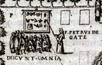 Pic 8: Brother Pedro de Gante instructing Indians on the use of European tools (from Diego Valadés, 'Rhetorica Christiana')