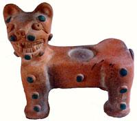 Pic 10: Replica of Maya jaguar throne figure