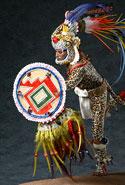 Pic 12: Model of an Aztec jaguar warrior by George Stuart
