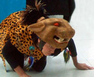 Pic 18: Jaguar-costumed dancer, Tribu music-dance troupe, British Museum 2010