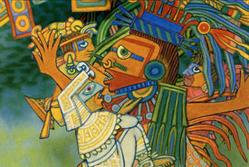 Quetzalcoatl took the musicians in his arms; from 'How Music Came to the World'
