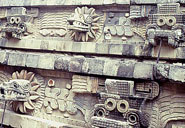 Pic 2: Feathered Serpent at Teotihuacan. Copyright: imagesofanthropology.com