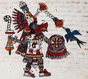 Pic 5: Quetzalcóatl-Ehécatl. Codex Magliabechiano, fol.61r