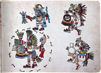 Pic 12: Quetzalcoatl (upper right). Codex Magliabechiano, fol. 89r