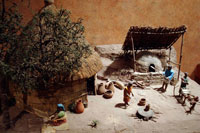 Pic 2: Model of life outside traditional rural dwelling, National Museum of Anthropology, Mexico City