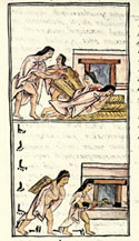 Pic 13: Thieves at work, Florentine Codex Book IV