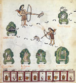 Pic 8: From their many years on the road, the Aztecs remembered the hardship of hunger and scarcity. Codex Telleriano-Remensis, fol. 26r
