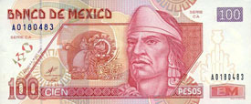 Pic 19: Nezahualcoyotl on Mexican 100-peso note