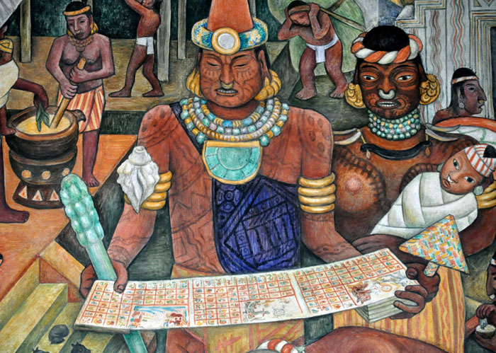 Aztec books an introduction for Aztec mural painting