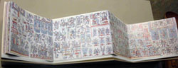 Pic 8: The Codex Zouche-Nuttall at the British Museum displayed in its original screen-fold presentation