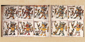 Pic 7: Information ascribed to periods of time called 'trecena' (period of 13 days); Codex Borgia, sheets 47-48