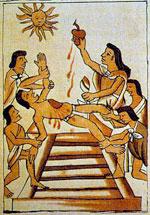 Pic 11: Aztec human sacrifice