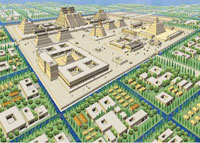 Pic 15: An image of the centre of Tenochtitlan as it may have looked with its many vegetable gardens
