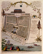 Pic 9: A 1751 engraving of Chelsea Physic Garden. Founded in 1673, it sports today a statue to Sloane who was an important benefactor of the Garden, which was on his Chelsea estate