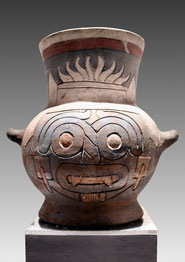 Pic 4: Tlaloc image on vessel from Great Temple, Tenochtitlan