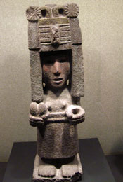 Pic 6: Stone sculpture of Chicomecoatl, National Museum of Anthropology, Mexico City