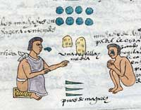 Pic 2: An Aztec father tells off his son by threatening him with cactus spines