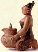 Maya woman figurine