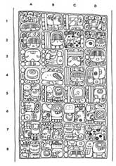 Pic 5: Lintel 21, Yaxchilan – D8 is where it states 'He of 20 captives'