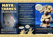 Pic 3: A flyer for the 2014 Maya Glyphs study weekend; will the ballgame be in the programme again...?
