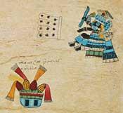 Pic 6: Veintena of Atlcahualo, Codex Borbonicus
