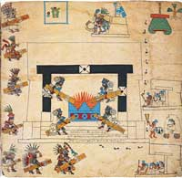 Pic 14: The Xiuhmolpilli (New Fire or 'Binding of the Years' Ceremony), Codex Borbonicus page 34