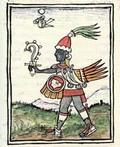 Pic 19: The fateful day 1-Wind, above Ehécatl (God of Wind), Florentine Codex Book 4
