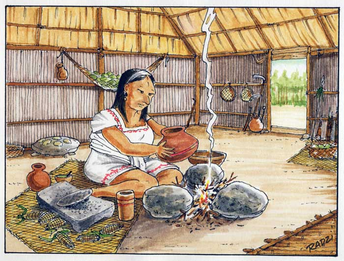 Teaching the Maya resource - a Maya farmer's house