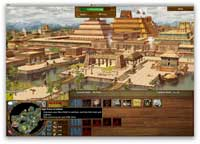 Pic 2: Screenshot of the Aztec 'Home City' of Tenochtitlan