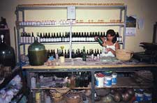 Pic 3: Shop in Trinidad, Bolivia, selling cacao vinegar in the jar on the left
