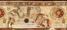 Pic 4: Ballgame scene, from a ceramic Maya vase (K1209)