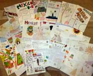 Posters on Ancient Mexico by Yr 5, Ottershaw Junior School