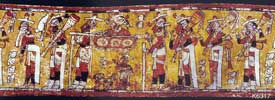 Pic 6: A ruler carried in a litter is accompanied by trumpeters and a dog, Kerr K6317