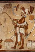 Pic 11: Close-up of the rasp-drum player (detail from K5233 vessel, above)