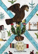 Pic 4: Eagle, cactus, stone: all elements that feature in the naming of the Aztec capital city; Codex Mendoza, fol. 2r (detail)