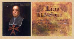 Pic 12: Ferdinando Cospi; detail of front cover (facsimile) showing (just!) the words 'de la China' underneath 'del Messico'