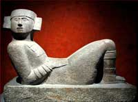 Pic 2: Chac mool figure from Chichen Itza, excavated by Augustus Le Plongeon