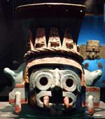 Pic 9: Tlaloc pot, National Museum of Anthropology, Mexico City