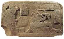 Pic 17: Maya ritual ballgame players, bas-relief panel, La Corona