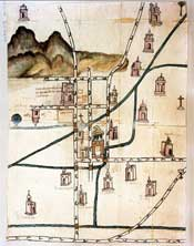 Pic 2: Colonial map of Colhuacan from around 1580. This is modern day Ixtapalapa in Mexico City