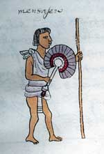 Pic 8: A 'titantli' courier. Codex Mendoza