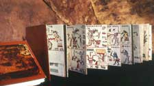Pic 2: A 'screenfold' book from ancient Mexico