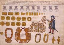Pic 6: A Spanish landlord sets native men on fire. Codex Kingsborough